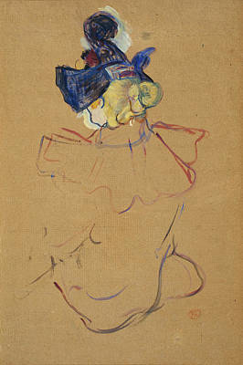 Post Impressionism Painting - Seated Woman From Behind - Study For  by Henri de Toulouse-Lautrec