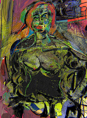 Seated Woman Art Print by Noredin Morgan