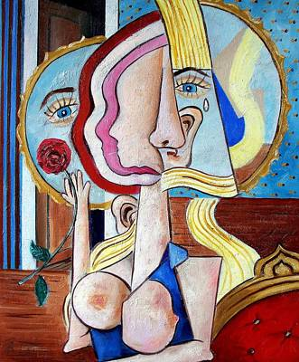 Painting - Seated Woman by RB McGrath