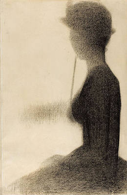 Seated Woman With A Parasol. Study For La Grande Jatte Art Print by Georges Seurat