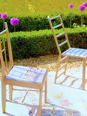 Seating Arrangement Art Print by Ann Johndro-Collins