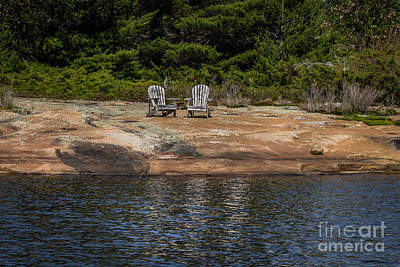 Wall Art - Photograph - Seating For Two by Marj Dubeau