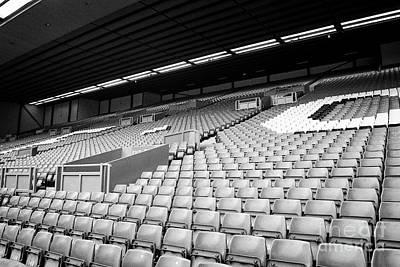 seating on the kop Liverpool FC anfield stadium Liverpool Merseyside UK Art Print by Joe Fox