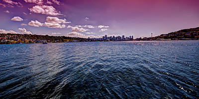 Space Needle Photograph - Seattle And Lake Union by David Patterson