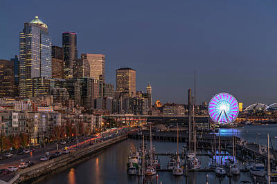 Photograph - Seattle Autumn Nights by Ken Stanback