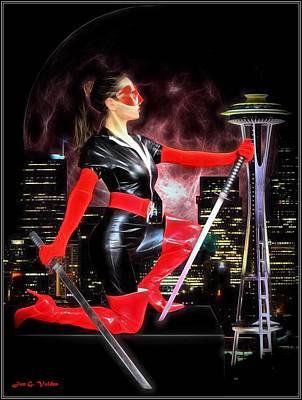 Painting - Seattle Avenger by Jon Volden