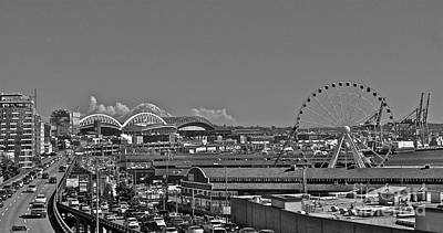 Photograph - Seattle Black And White by Linda Bianic