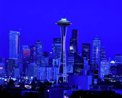Seattle Blue Hour Art Print by L O C