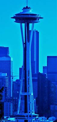Seattle Blue Art Print by Martin Cline