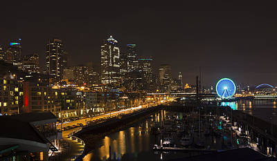 Photograph - Seattle By Night by Inge Riis McDonald