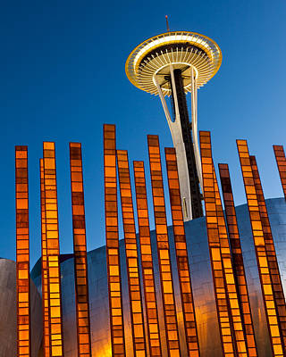 Seattle Center Twilight Art Print by Thorsten Scheuermann