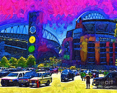 Digital Art - Seattle Century Link Stadium by Kirt Tisdale