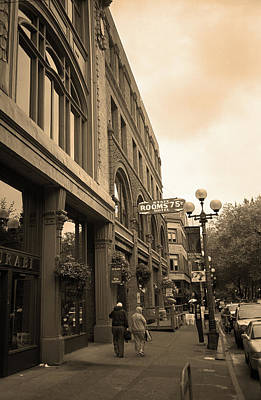 Photograph - Seattle Cheap Hotel Sepia by Frank Romeo