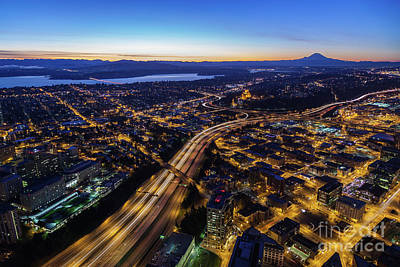Photograph - Seattle City At Dawn by Mike Reid