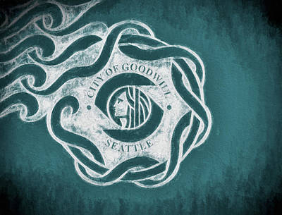 Digital Art - Seattle City Flag by JC Findley