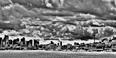 Photograph - Seattle Cityscape From Gasworks Park by David Patterson