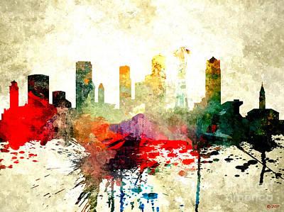 Seattle Skyline Mixed Media - Seattle by Daniel Janda