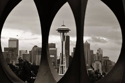 Photograph - Seattle Downtown by Songquan Deng