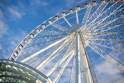 Monorail Photograph - Seattle Ferris Wheel by Paul Bartoszek