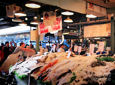 Seattle Fish Throw Pike St Market Art Print