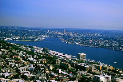 Photograph - Seattle From Space Needle by Gary Wonning