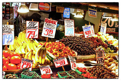 Photograph - Seattle - Fruit Stand by Russell Mancuso