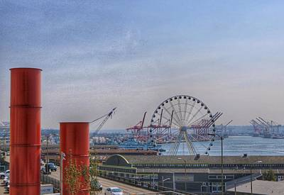 Photograph - Seattle Great Wheel by Gia Marie Houck