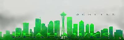 Sports Paintings - Seattle Greens by Douglas Day Jones
