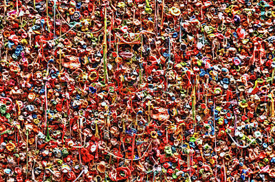 Photograph - Seattle Gum Wall 2 by Allen Beatty