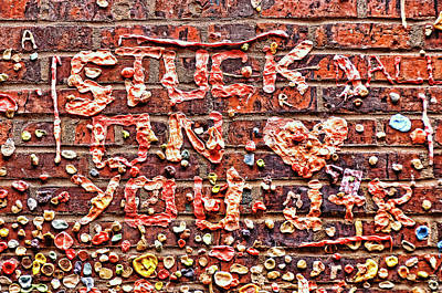 Photograph - Seattle Gum Wall - Stuck On You by Allen Beatty
