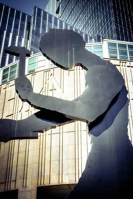 Seattle Hammering Man Art Print by Spencer McDonald