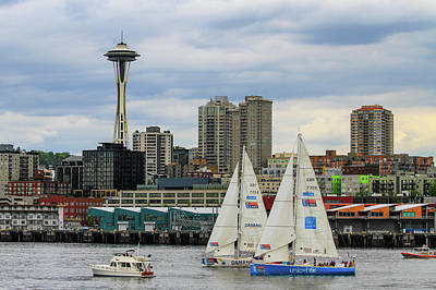 Photograph - Seattle Harbor View by Juli Ellen