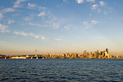 Seattle Landscape Art Print by Tom Dowd
