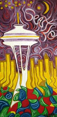 Painting - Seattle Love by Alfredo Dane Llana