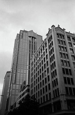 Seattle - Misty Architecture 3 Bw Art Print