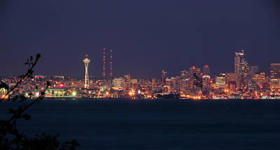 Photograph - Seattle Needle Aglow, Seattle Wa by Michael Bessler