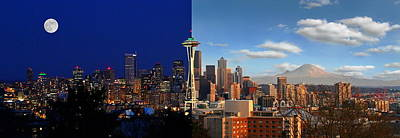 Photograph - Seattle Night And Day by Doug Oriard