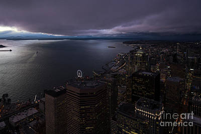 Photograph - Seattle Night Skies by Mike Reid