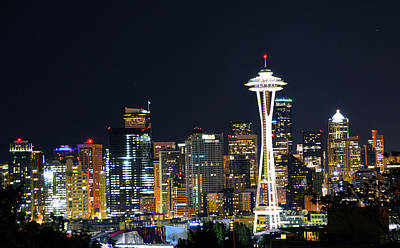Photograph - Seattle Night Sky by Brian O'Kelly