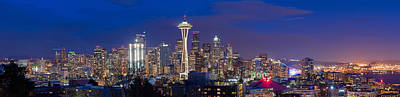 Photograph - Seattle Night View by Ken Stanback