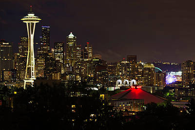 Photograph - Seattle Nightscape 2 by Paul Riedinger
