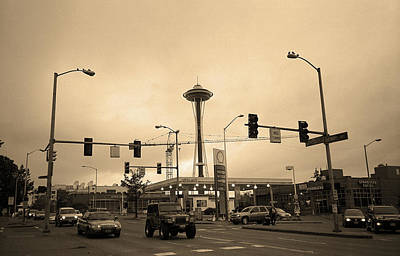 Seattle - North End Sepia Art Print