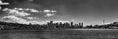 Black And White Photograph - Seattle Panorama 2 by David Patterson