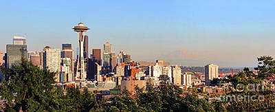 Photograph - Seattle Panorama 2545 2546 by Jack Schultz