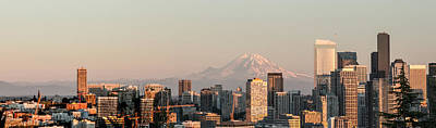 Photograph - Seattle Panorama At Dusk by E Faithe Lester