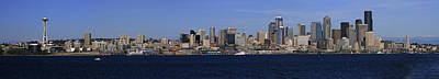Seattle Panoramic Art Print by Adam Romanowicz