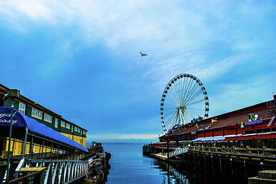 Photograph - Seattle Pier 57 by D Justin Johns