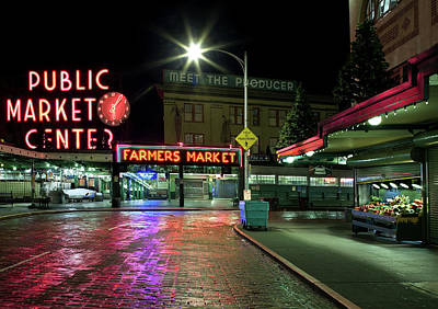 Photograph - Seattle Public Market 1 by Al Hurley