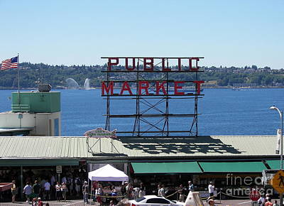Photograph - Seattle Public Market by Carol  Bradley