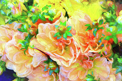 Seattle Public Market Flowers Art Print